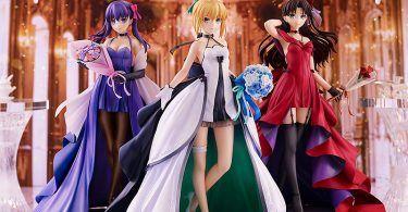 Fate Stay Night Saber Rin Tohsaka Sakura Matou 15th Celebration Dress Version Figure 0001